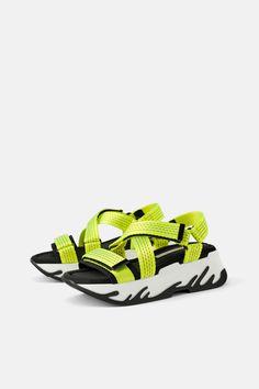 info for 1e054 eb4e8 ATHLETIC PLATFORM SANDALS - Flat Sandals-SHOES-WOMAN   ZARA United States  Zara United