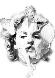 Nostalgic Art - Marilyn Monroe Portrait in Black and White Fine Art Prints, Canvas Prints, Framed Prints, Marilyn Monroe Portrait, Nostalgic Art, Unique Art, Fine Art America, Original Artwork, Statue