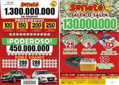Este domingo la suerte te puede tocar a vos...  SALEN O SALEN Gs. 130.000.000 en: 25 premios de Gs. 2.000.000 5 premios de Gs. 10.000.000 30 vales escolares de Gs. 1.000.000 c/u ⭐10 parrillas grill + conservadoras con Miller  EN LOS POZOS: El #Progresivo Gs. 150.000.000 y cantamos una bolilla más. El #Poderoso sube y está en Gs. 450.000.000 La #DobleChance Gs. 200.000.000 + una hermosa Renault Duster Oroch y un potente Audi A3  No te quedes sin tu cartón ¡Pedí #Seneté!