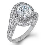Simon G Twist 18k - White Gold Diamond Engagement Ring