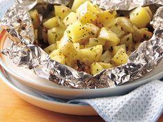 Grilled Cheesy Garlic Potato Packs