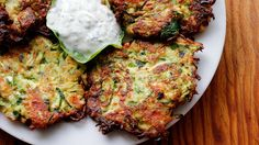 Summer Decadence: Crispy Zucchini Fritters with Lemony Yogurt-Herb Dip | Bay Area Bites | KQED Food