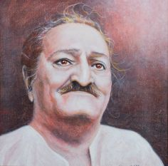 meher baba quotes | Portrait of Meher Baba by Diana LePage (cropped)