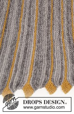 Ravelry: Dragon Tail pattern by DROPS design Knitting Short Rows, Knitting Stitches, Knitting Patterns Free, Crochet Patterns, Free Pattern, Free Knitting, Drops Design, Crochet Chart, Knit Crochet