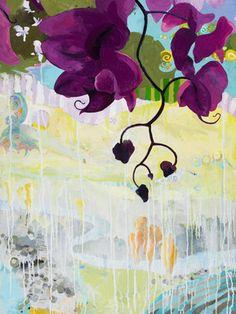 Chimayo from Ocean, Island, Vessel. Susan Schiesser. Oil on canvas.