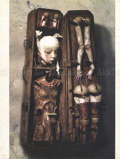 """三浦悦子 聖餐/EUCHARIST """"This special, limited edition of Etsuko Miura's new book """"Eucharist"""" features a dimensional leather cover handmade by. Creepy Art, Creepy Dolls, Fete Halloween, Gothic Dolls, Arte Horror, Doll Parts, Doll Repaint, Ooak Dolls, Custom Dolls"""