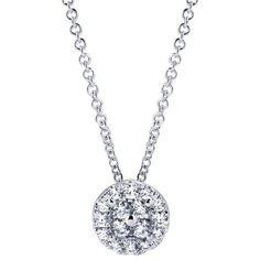 1/3ct Round Diamond Cluster Necklace