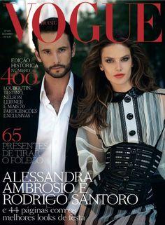 Alessandra Ambrosio & Rodrigo Santoro by Eric Gullemain Vogue Brazil December 2011