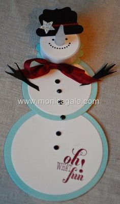 telescopic snowman video tutorial by Monica Gale, My Many Passions