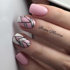 ♥ Fotók ♥ Videók ♥ Manikűr órák VK - Song Tutorial and Ideas Fabulous Nails, Perfect Nails, Gorgeous Nails, Love Nails, Pretty Nail Designs, Pretty Nail Art, Music Nails, Geometric Nail, Stylish Nails