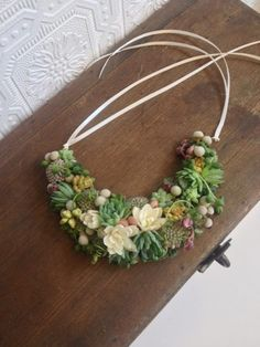 Bridal Accessories That Pop: Succulent Jewelry From Passionflower!