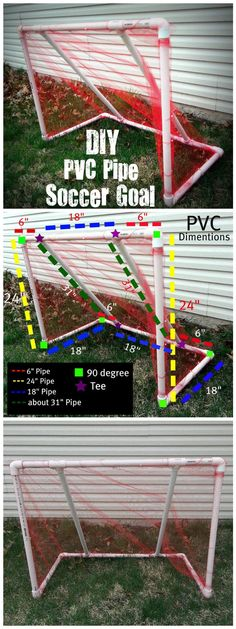 DIY Cool PVC Pipe Soccer Goal - 48 DIY Projects out of PVC Pipe You Should Make