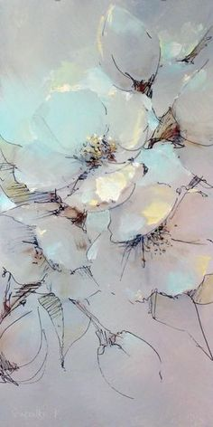 ideas flowers painting abstract pattern colour for 2019 Art Floral, Pastel Floral, Watercolor Flowers, Watercolor Paintings, Oil Paintings, Drawing Flowers, Painting Flowers, Watercolours, Flower Drawings