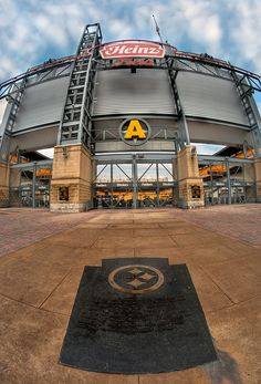 Heinz Field - Pittsburgh (Steelers) Pennsylvania The marker indicates where Three Rivers Stadium (their former home) once stood for 31 seasons.