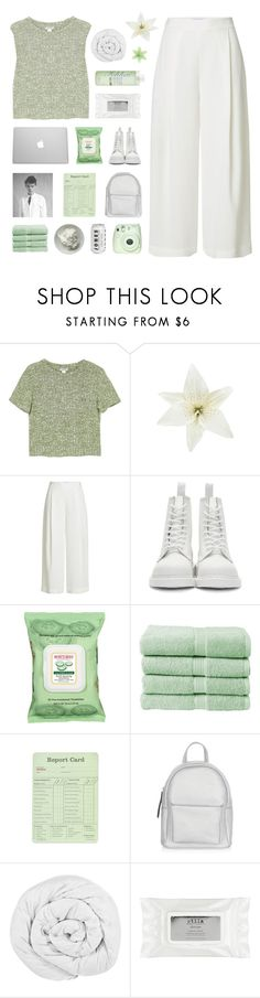 """WHAT IT WAS ALL FOR?"" by gintare-13 ❤ liked on Polyvore featuring Monki, Clips, Paul Brodie, Diane Von Furstenberg, Dr. Martens, Burt's Bees, Christy, New Look, The Fine Bedding Company and Stila"