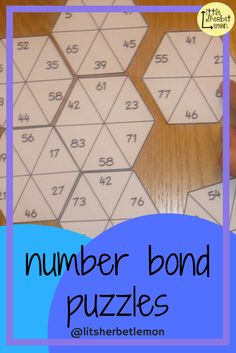 These puzzles are a fun and differentiated way of practising the important skill of knowing number bonds. Elementary Teacher, Elementary Schools, Number Bonds To 100, Math Intervention, Classroom Management, Maths, Teaching Resources, School Stuff, Jigsaw Puzzles