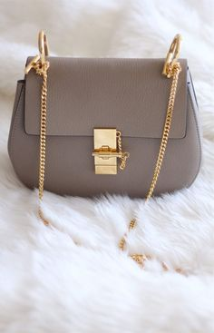 fashion grey crossbaody bag, simple turnlock shoulder bag for women, luxury party bags for work