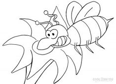Picture Of Bumble Bee Coloring Pages To Print
