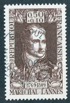 N°227 Timbre Poste 1969 Maréchal Jean Lannes, duc de Montebello 0.50 + 0.10 fr ; par Okaio : Autres Home Déco par olavia-olao-okaio-creations-timbres-et-photo