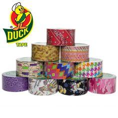 10 rolls patterned duck brand duct tape,$20 dealgenius