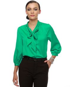Once again the colour..love this top...it has the business..night out feel..can be paired with black pants or black pencil skirt. :D