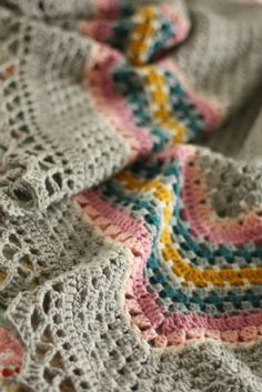 Cherry Heart - this has to be the most beautiful crochet shawl ever. the colours are so complementary, iys a joy to look at. Jx