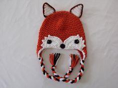 FOX Hat -  Crochet Fox Hat -Girl Fox Hat - Toddler Girl Fox Hat - Child Girl Fox Hat - Adult Girl Fox Hat - Animal Hat - Photo Prop