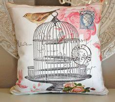 bird cage pillow cover