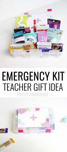 TEACHER Emergency Kit!!! Practical and awesome teacher gift!!   #ad #shareyourBROOKSIDE