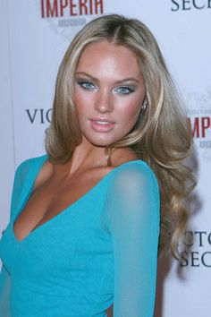 hair style def! and tan, makeup and dress! love that shade of blue! makes your tan pop!  :)