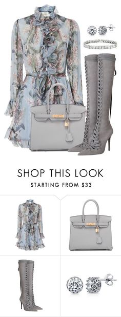 """Untitled #1887"" by ladiistaff ❤ liked on Polyvore featuring Zimmermann, Hermès and BERRICLE"