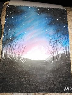 Mystic twilight - 11x8 mixed media on canvas By Kelly Craver https://www.facebook.com/artisticcravings/