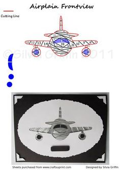 Airplane Frontview IF on Craftsuprint designed by Silvia Griffin - Great pattern for a card to whom loves these flying machines. A wonderful male card for your son's husbands brothers or anyone in the Air force. Maybe for a anniversary: How times fly by ..... - Now available for download!