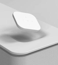 Speaker, remote, plastic, white, dock, soft, floating, button, pebble