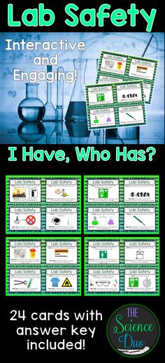 98 best lab safety images on pinterest science science lab safety science lab safety i have who has activity this activity includes 24 fandeluxe Images