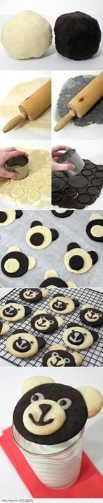 Des biscuits en forme d'ourson. À tester!
