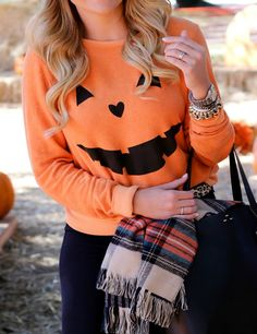 Women Hoodies Sweatshirts 2016 Autumn Halloween Style O Neck Long Sleeve Pullovers Casual Loose Pumpkin Printed Blusas Tops Mode Halloween, Halloween Fashion, Halloween Outfits, Halloween Party, Halloween Clothes, Halloween Tops For Women, Halloween Costumes For Teachers, Diy Halloween Shirts, Fall Halloween