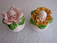 Flower babies salt and pepper shakers.  Cutie pies.
