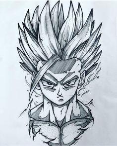 Anime Dibujos A Lapiz Dragon Ball Dbz Drawings, Drawing Sketches, Ball Drawing, Anime Character Drawing, Desenho Tattoo, Anime Tattoos, Anime Sketch, Fanart, Ace Ace