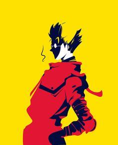 Vash -estampida by nikelvin Manga Art, Anime Manga, Anime Art, Tokyo Mew Mew, Ajin, Nisekoi, Amaterasu, Vash, Cowboy Bebop