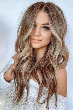 The most amazing balayage long hairstyles for women 2019 - hairstyles. - The most amazing balayage long hairstyles for women 2019 – hairstyles. Ombre Hair Color, Hair Color Balayage, Cool Hair Color, Brown Hair Colors, Balayage Hairstyle, Trendy Hair Colors, Long Hair Colors, Blonde Fall Hair Color, Winter Blonde Hair