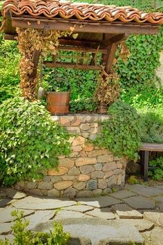 Priming the Pump & Inspiration -The Art of the Well Lived Life Garden Park, Garden Cottage, Landscaping With Rocks, Garden Landscaping, Garden Structures, Outdoor Structures, Wheelbarrow Garden, Water Well, Wishing Well