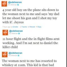 Ed's airplane flight<3