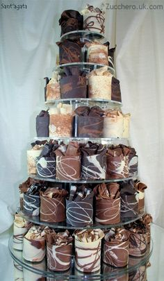 Chocolate wedding cake tower thing...don't know what to call it, but it looks delish!