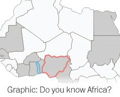Online quiz of African geography. HARD.