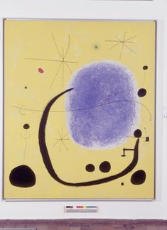 Joan Miró, L'Or de l'azur (The Gold of the Azure), 12/04/67 Acrylic on canvas, 205 x 173 cm