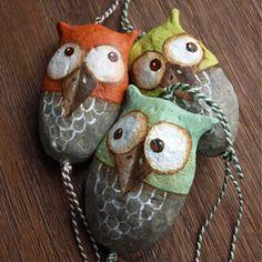 Paper Mache Owls