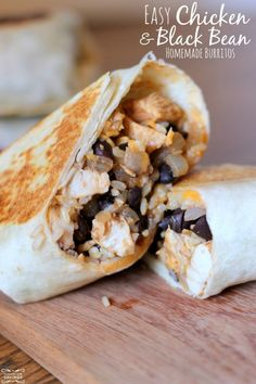 Grilled Chicken and Black Bean Burritos - These are the BEST and so easy to make!