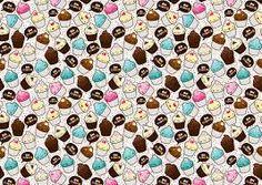 Resultado de imagem para cupcakes desenho papel de parede