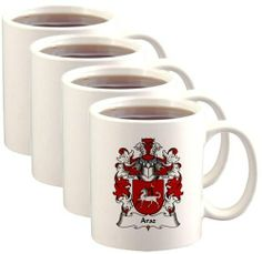 Araz Coat of Arms / Family Crest Mugs $46.99